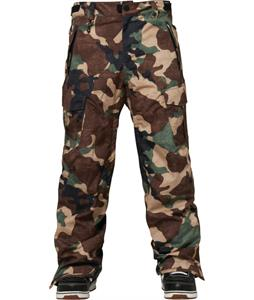 686 Authentic Infinity Cargo Insulated Snowboard Pants Hunter Canvas Camo