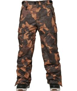 686 Authentic Infinity Cargo Insulated Snowboard Pants Duck Canvas Camo