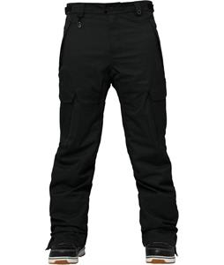 686 Authentic Infinity Slim Cargo Insulated Snowboard Pants Black Herringbone Denim