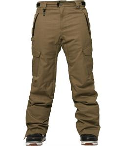 686 Authentic Infinity Slim Cargo Insulated Snowboard Pants Tobacco Herringbone Denim