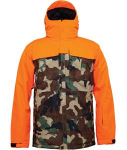 686 Authentic Moniker Insulated Snowboard Jacket Safety Orange Colorblock