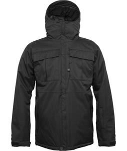 686 Authentic Moniker Insulated Snowboard Jacket Black Herringbone Denim