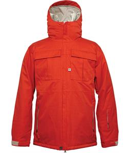 686 Authentic Moniker Insulated Snowboard Jacket Tomato Herringbone Denim