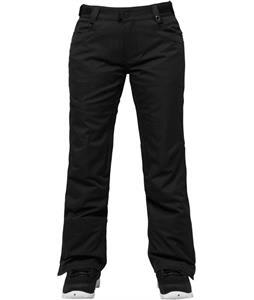 686 Authentic Patron Insulated Snowboard Pants Black Herringbone Denim