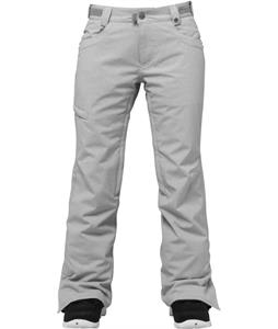 686 Authentic Patron Insulated Snowboard Pants Lt. Grey Texture