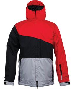 686 Authentic Prime Insulated Snowboard Jacket Cardinal Colorblock