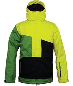 686 Authentic Prime Insulated Snowboard Jacket Celery Colorblock