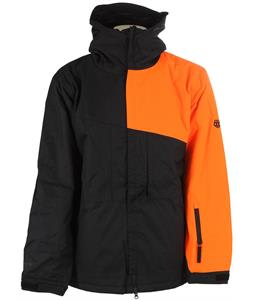 686 Authentic Prime Insulated Snowboard Jacket Safety Orange Colorblock