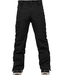 686 Authentic Prospect Snowboard Pants Black Pincord