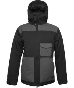 686 Authentic Revert Insulated Snowboard Jacket Black Herringbone Dobby