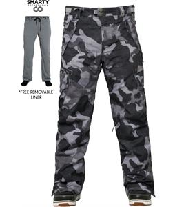 686 Authentic Smarty Cargo Snowboard Pants Gunmetal Canvas Camo