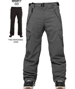 686 Authentic Smarty Cargo Snowboard Pants Gunmetal Texture