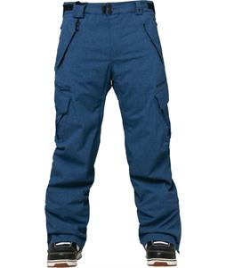 686 Authentic Smarty Cargo Snowboard Pants Indigo Texture