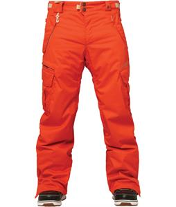 686 Authentic Smarty Cargo Snowboard Pants Tomato