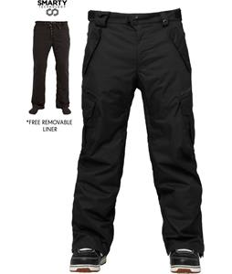 686 Authentic Smarty Cargo Tall Snowboard Pants Black