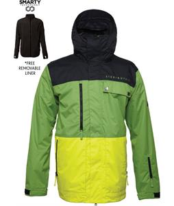 686 Authentic Smarty Form Snowboard Jacket Grass Colorblock