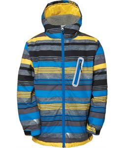 686 Authentic Stance Insulated Snowboard Jacket Blue Denim Stripe
