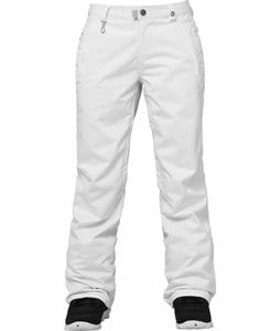 686 Authentic Standard Snowboard Pants White