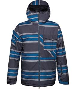 686 Authentic Venture Insulated Snowboard Jacket Gunmetal Rugby Stripe