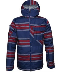 686 Authentic Venture Insulated Snowboard Jacket Indigo Rugby Stripe
