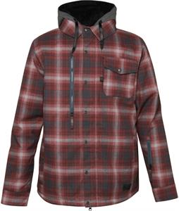 686 Authentic Woodland Insulated Snowboard Jacket Cardinal Flannel Yd Plaid