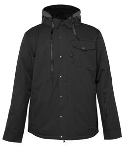 686 Authentic Woodland Insulated Snowboard Jacket Black Pincord