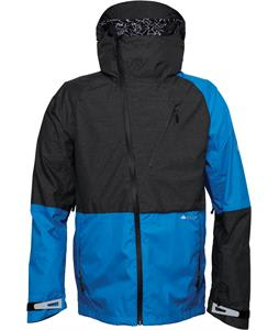 686 Glcr Hydra Thermagraph Snowboard Jacket Blue Heather Twill Colorblock
