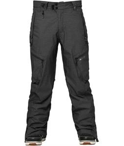 686 Glcr Synth Thermagraph Snowboard Pants Black Heather Twill