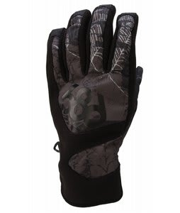 686 Legacy Snowboard Pipe Gloves Crypt Gunmetal Mens