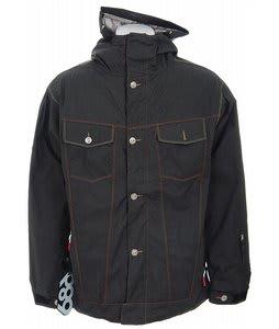 686 Times Levis Trucker Insulated Snowboard Jacket Black Twill Denim Mens