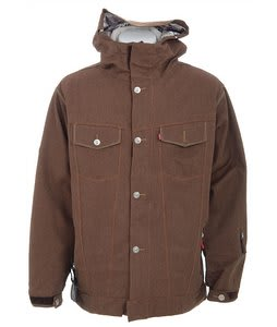 686 Times Levis Trucker Insulated Snowboard Jacket Chocolate Tweed Herbn Mens