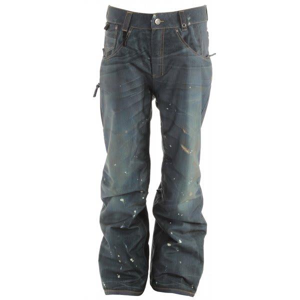 686 LTD Destructed Denim Insulated Snowboard Pants