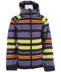 686 Mannual Heather Insulated Snowboard Jacket Iris Heather Stripe