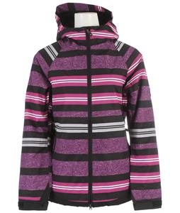 686 Mannual Heather Insulated Snowboard Jacket Plum Heather Stripe