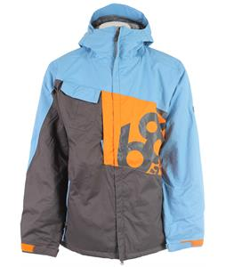 686 Mannual Iconic Insulated Snowboard Jacket Slate Colorblock