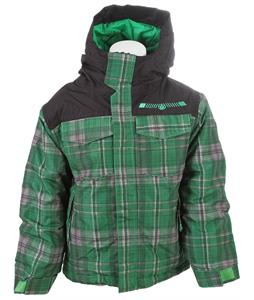 686 Mannual Reid Insulated Snowboard Jacket Green Plaid