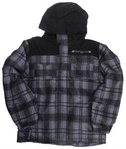 686 Mannual Reid Insulated Snowboard Jacket Gunmetal Plaid
