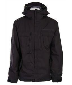686 Mannual Grid Insltd Jacket Black Print Mens