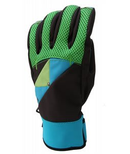686 Momentum Snowboard Pipe Gloves Lime Mens