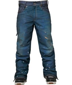 686 Parklan Destructed Denim Insulated Snowboard Pants Indigo