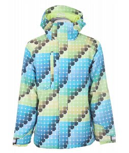 686 Acc Pixel Insulated Snowboard Jacket Cyan Palette Mens