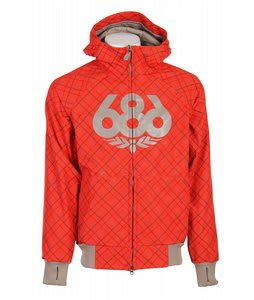 686 Plexus Doppler Softshell Jacket Burnt Orange Argyle Mens