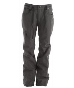 686 Raw Snowboard Pants Black Twill Denim