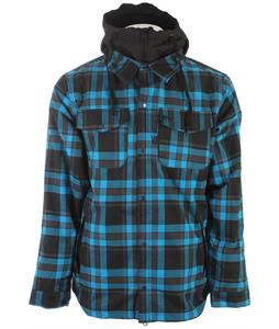 686 Reserved Axxe Flannel Insulated Snowboard Jacket Bluebird Plaid