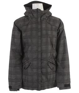686 Reserved Luster Insulated Snowboard Jacket Black Heather Plaid