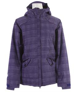 686 Reserved Luster Insulated Snowboard Jacket Iris Heather Plaid