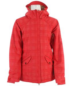686 Reserved Luster Insulated Snowboard Jacket Watermelon Heather Plaid