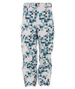 686 Smarty Complete 25 Ply Snowboard Pants White Print Mens