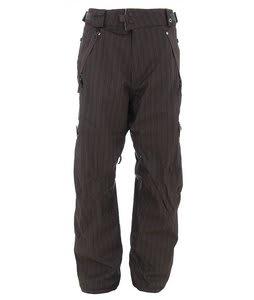 686 Smarty Marker Snowboard Pants Gunmetal Dual Pinstripe Mens