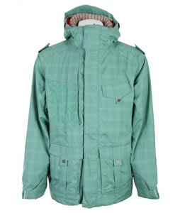 686 Smarty Ballast Jacket Kelly Green Plaid Mens